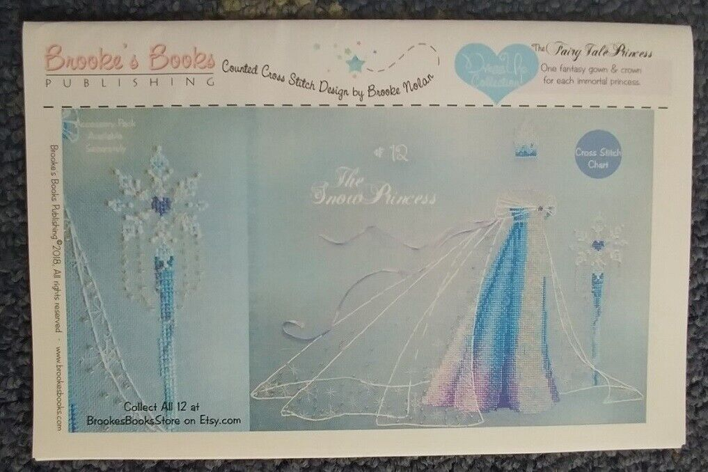 The Fairytale Princess Dress-Up Collection Cross Stitch Charts By Brooke s Books - $10.00