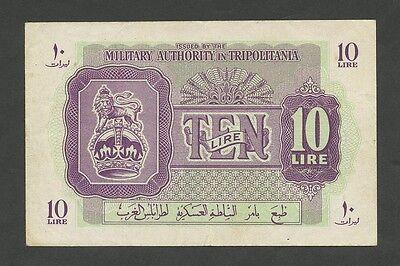 (BRITISH) MILITARY AUTHORITY TRIPOLITANIA - 10 lire  1943-51   (Banknotes)