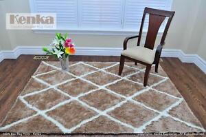 Free Delivery New Handmade Moroccan Beige Shag Rug Sale