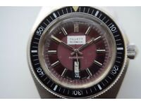 Vintage Diver's automatic mechanical wristwatch - Signed Tilletts of Norwich - Swiss made - '70s