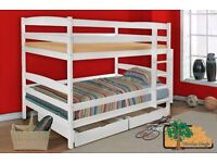 LUCY Double Wooden Bunk Bed for Children/Kids made of Solid Wood