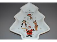 Ceramic Christmas tree shaped bowl