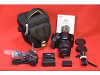 Canon EOS 1300D with 18-55mm Lens and Case £300