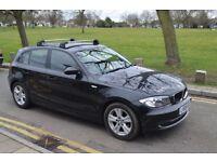 2009 BMW 118D 2.0 SE,MANUAL,DIESEL,BLACK,12M MOT,FULL BMW SERVICE,£30 RD TAX,PARKG SNSR,ALLOY,HPI CL