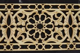 Decorative Wood Carvings Trim Panel Plaque Beading Dado Wooden Tray Moroccan 90 x 9.8 x 0.3 cm, WD10