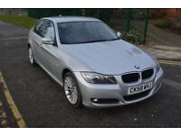 3M GOLD WARRNTY,PARKNG SNSR,2009 BMW 320D SE 2.0,AUTO,DIESEL,SILVER,17''ALLOY,LEATHER SEAT,HPI CL