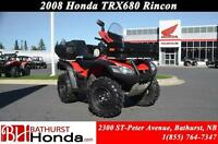 2008 Honda TRX680FA Rincon Fuel injection! Rear Seat! Front Carg