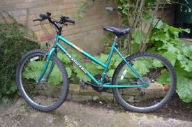 Girls 'Apollo Impact' mountain bike, 15-speed/gears, will suit 9 to 15 year olds.