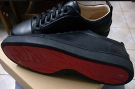 new product 11190 6112f louboutin junior flat trainers shoes size 9 10 not Balenciaga
