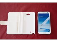 White Samsung Galaxy Note 2 Mobile - Unlocked 16 GB ***Perfect working condition