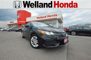 2015 Honda Civic LX| DEALER SERVICED| ONE OWNER| ACCIDENT FREE