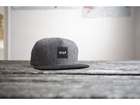 HUF six panel snapback cap, excellent condition