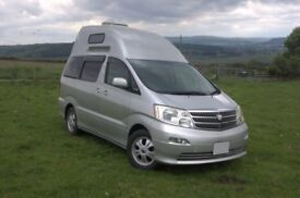 Toyota Alphard Camper by Wellhouse High top version choice of 2.4 or 3.0V6 2 or 4WD
