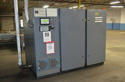 150 Hp Atlas Copco Ga-110 Rotary Screw Air Compressor Skid Mntd Sound Enclosure