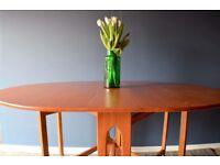 Vintage McIntosh drop leaf teak table. Delivery. Modern / mid century / Danish style.