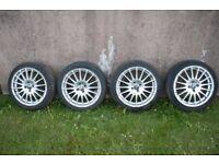 "4 x 17"" OZ Racing Gran Turismo wheels with tyres"