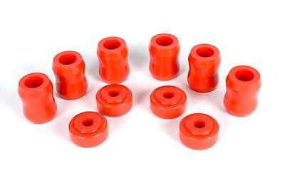 Jeep Polyurethane Complete Set of Polyurethane Shock Replacement Bushings in Red
