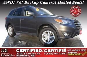 2012 Hyundai Santa Fe AWD Certified! AWD! V6! Backup Camera! Hea