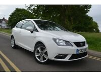 MOT TILL JAN 2019,2014 SEAT IBIZA TOCA 1.4 SPORTCOUPE,WHITE,TOP SPEC MODEL,SA...