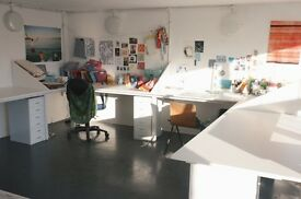 DESK SPACE TO RENT - natural light / 24hr access to onsite print facilities and more...
