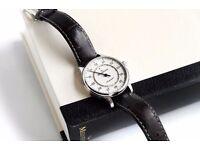 Meistersinger Perigraph Wrist Watch Cream ivory