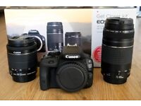 Canon EOS 100D 18MP SLR Camera - With 18-55mm & 75-300 Lenses
