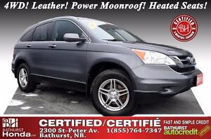 2011 Honda CR-V EX-L 4WD 4WD! Leather! Power Moonroof! Heated Se