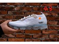 "Brand new ""off white"" nike vapormax 6-11"