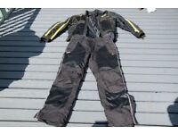 Textile motorcycle jacket and trousers, olympia moto sports