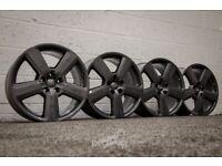 "*Refurbished* Genuine 18"" Audi A4/A6 S-Line 'RS6 Style' Alloy Wheels 5x112 Gunmetal"