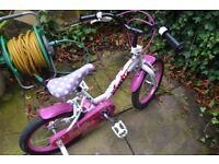 Girls bike age 4+