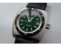 Nivada Taravana automatic mechanical diving wristwatch - Swiss - New old Stock - Signed Winegartens