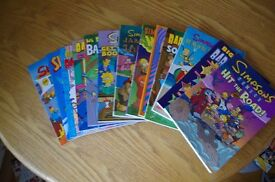 Selection of Bart Simpson comic books