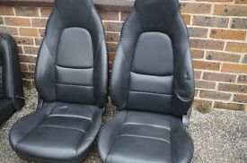 MX5 Seats in high quality black leather