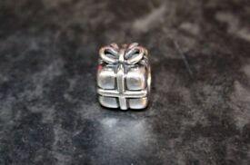 Authentic Silver Pandora Bracelet - Present Charm