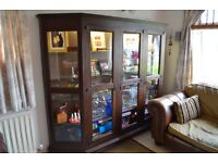 Antique/Vintage Glass Cabinet from Germany