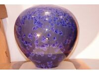 David Williams signed cobalt blue art vase