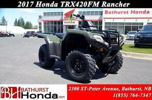 2017 Honda TRX420FM Foot-Shift! Efficient engine! Easy start!