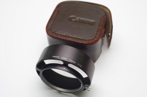 Canon Rangefinder Model 7 Leica M39 50mm f1.2 Clamp-On Lens Hood LTM  RARE