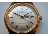 Timex Automatic day-date mechanical wristwatch - Assembled in GB - GP - '79 Vintage