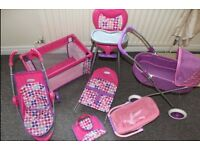 Girls Crib & Stroller's set!