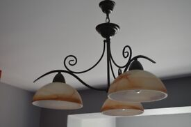 Pendant lamp and wall lamps