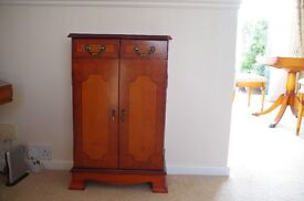 Yew Reproduction CD Cabinet