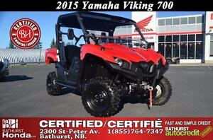 2015 Yamaha VIKING 700 Certified! 3 Seats! Low Mileage! Winch!