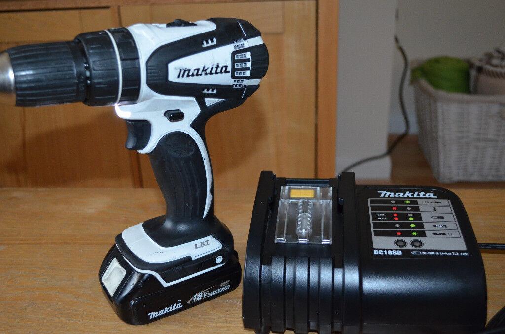Makita DHP456 + brand new charger + 1.3Ah battery