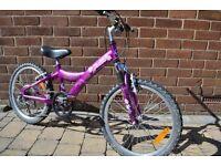 """Giant Taffy girls's bike 20"""" wheels 5 gears suspension"""