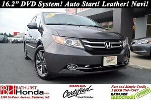 2015 Honda Odyssey Touring 16.2'' DVD system! Nav! Leather! Auto