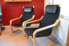 Ikea Poang Chairs with Plaited Webbing limited edition.