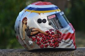 Custom painted helmets and motorcycles