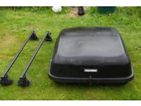 Black Roof box and roof bars